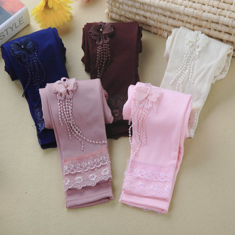 B10158A little girl cotton legging trousers pants capris