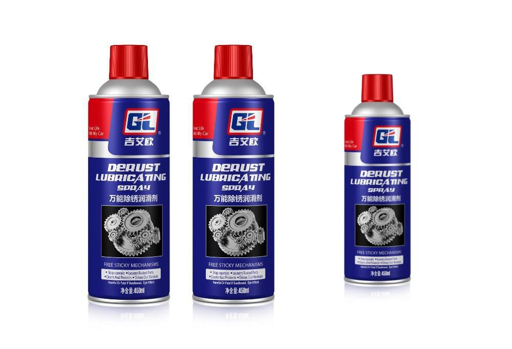 Lubricant anti rust oil spray