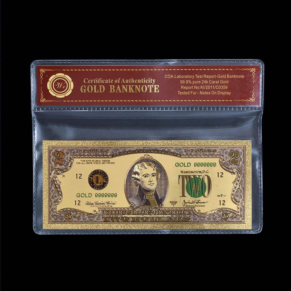 5 Dollar 1928 Year 24k Gold Banknote Holiday Gifts US Note Money with COA Frame