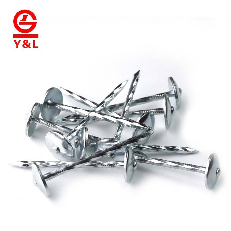 China supplier galvanised cost of roofing nail