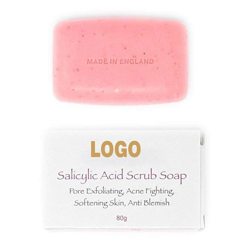 Private Label Savon Salicylic Acid Scrub Brightening Exfoliating Soap