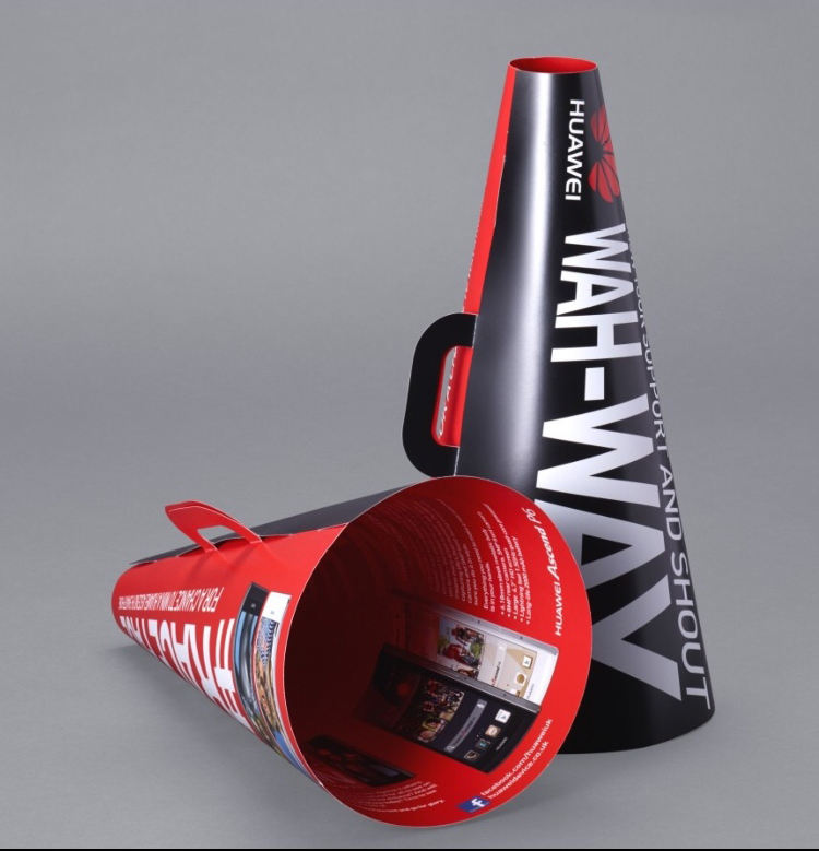 DIY promotion clapper paper megaphone for cheering
