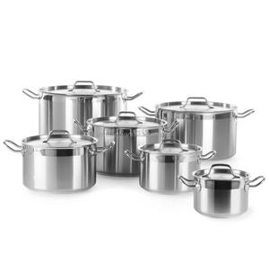 Low & High Induction Stainless Steel stew cooking pot with cover for restaurant