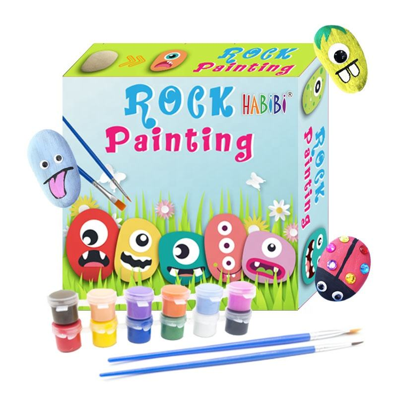 ROCK PAINTING KIT $ ROCK DRAWING & LHAMA & ASTM & CPC & waterproof