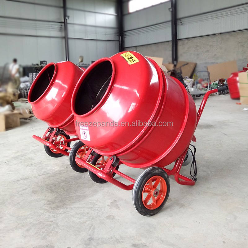140L-350L electric portable cement concrete mixer machine concrete feed mixer