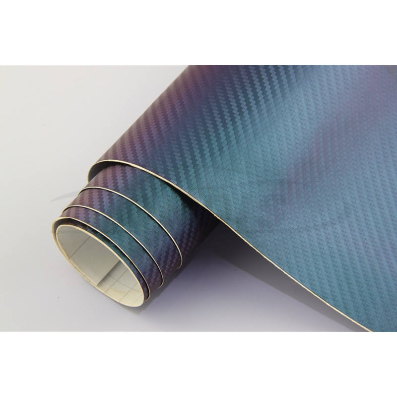 Self Adhesive PVC Material Vehicle Vinyl Roll Carbon Fiber Chameleon Sticker For Car Wrapping Foil