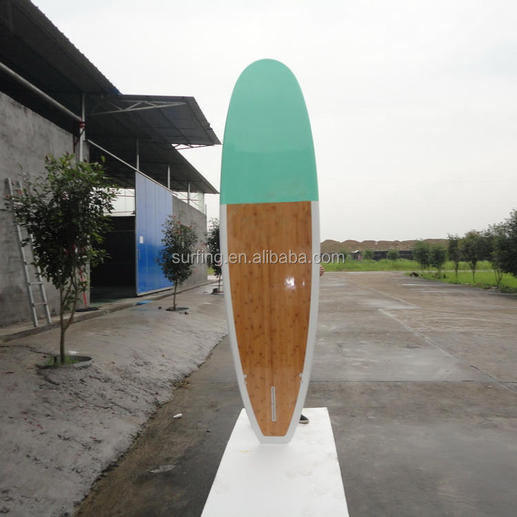 surfboard manufacturer/bamboo veneer sup stand up paddle surfing board/Epoxy EPS fiber glass paddle surf board for paddle surf