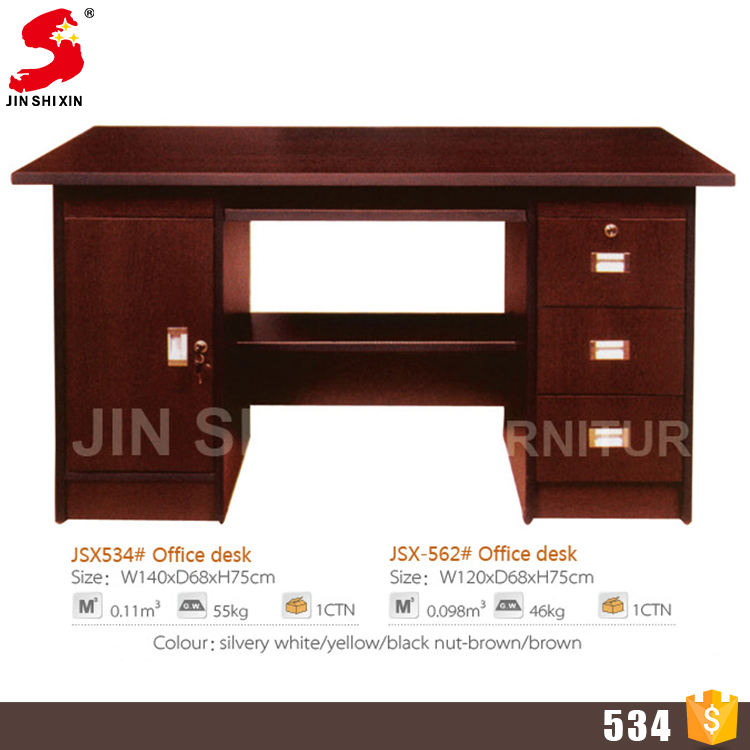 Foshan factory direct sale simple desk 3 drawers latest computer table design for office