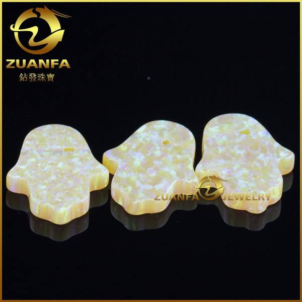 hot sell Australia synthetic hamsa opal yellow opal stone price