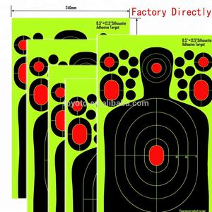 cheap sputtering target 100 Pack - 9.5*14.5 Silhouette - adhesive paper Target -New Bigger Splatter & Brighter Colors