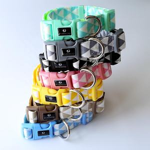 Fun Pet fashion high quality training Soft & Comfortable Triangle Pattern Adjustable Dog Collar