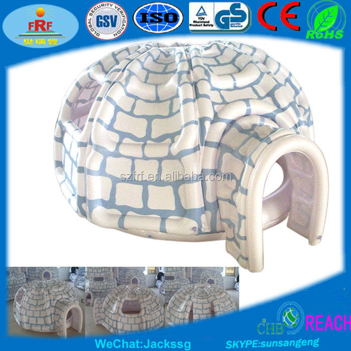 Inflatable snow fort, Inflatable igloo, Inflatable iglu