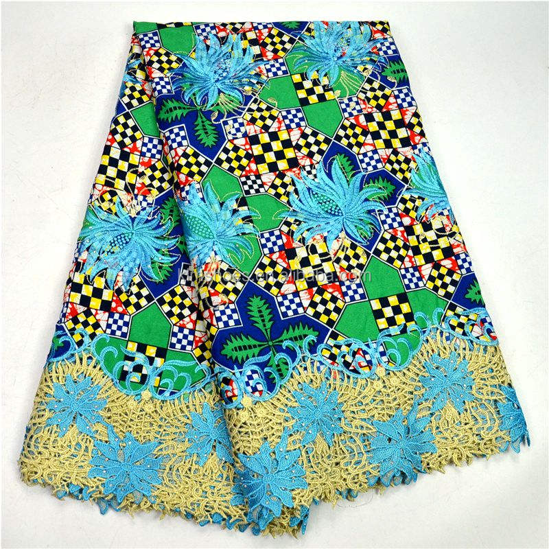 High Quality French Lace Fabric With Beads And Stones With African Wax Cloth African Voile Lace 0828