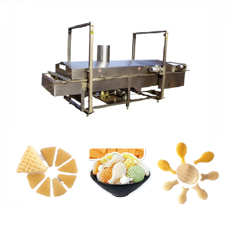 automatic stainless steel fried crispy 3d pellet snack machine food processing industrial price single screw extruder machine