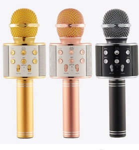 Q5 WS-858 WS-1816 H8 Mini Multi-function USB Charger Portable Bluetooth Wireless Microphone for Karaoke