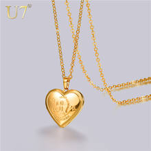 U7 With Chain 18K Gold Plated Libra Sciorpio Cancer Leo Vintage Horoscope Locket Necklace