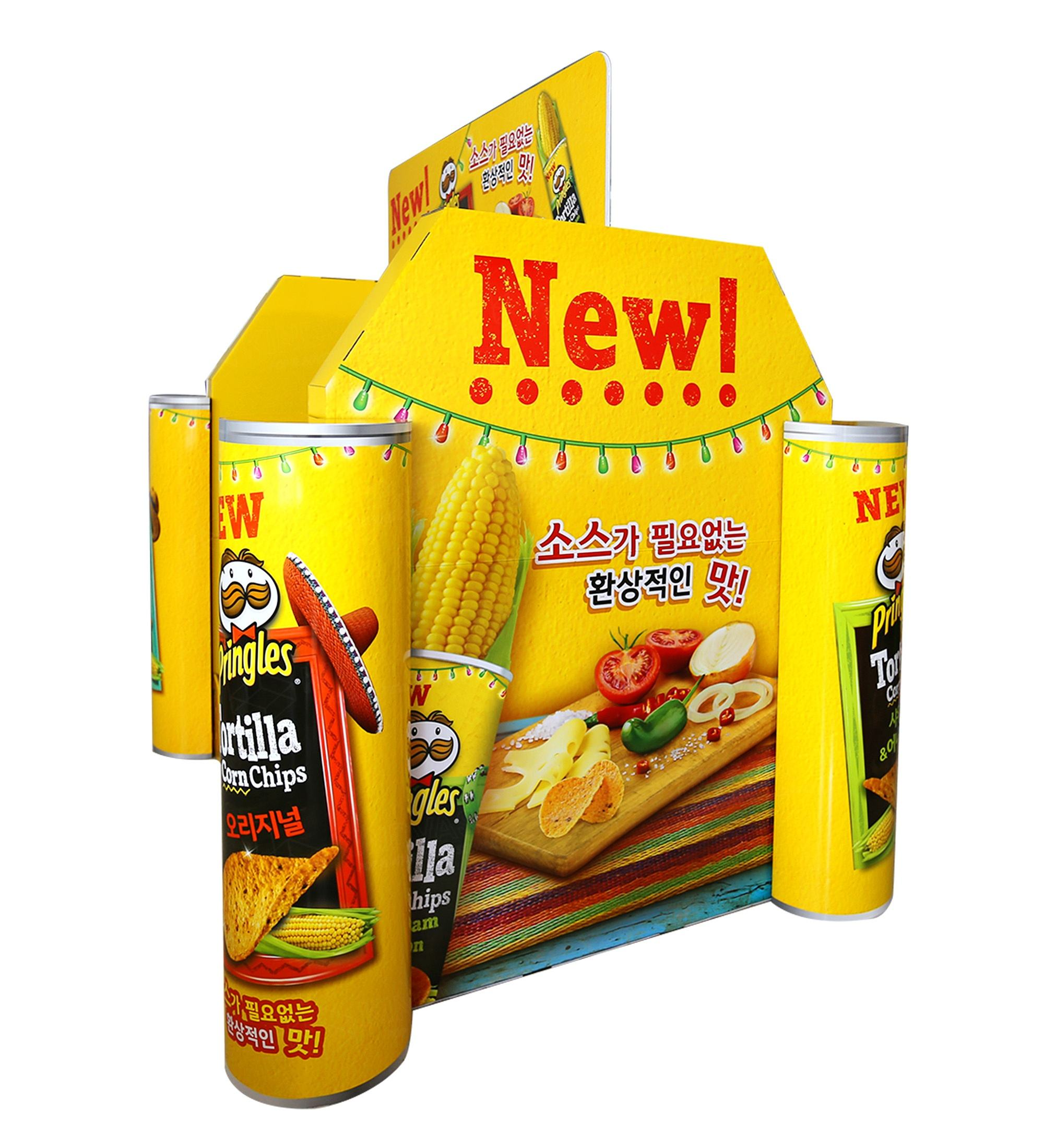 advertising inflatables promotional totem display chips snacks food cardboard lcd display custom standee display stand pallet