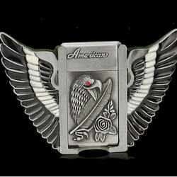 40mm old silver color 3D eagle shape western alloy belt buckle 40mm,custom fire lighter belt buckle