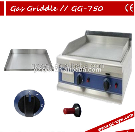 Gas Griddle GG-750 and 2 Burner Flat Plate