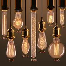 e27 e26 b22 e14 vintage edison light bulb 25w 40w 60w antique incandescent filament lamp A19 ST64 ST58 G95 G125 T45 C35 T30 T45