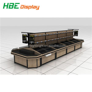 Supermarkt Fruit Groente Opbergrek, Display Stand plank, supermarkt display plank