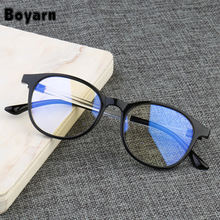 Anti Blue Light Glasses Frame Women Eye Protection Anti Radiation Eyeglasses Men Anti-Blue Rays No Degree Round Glasses