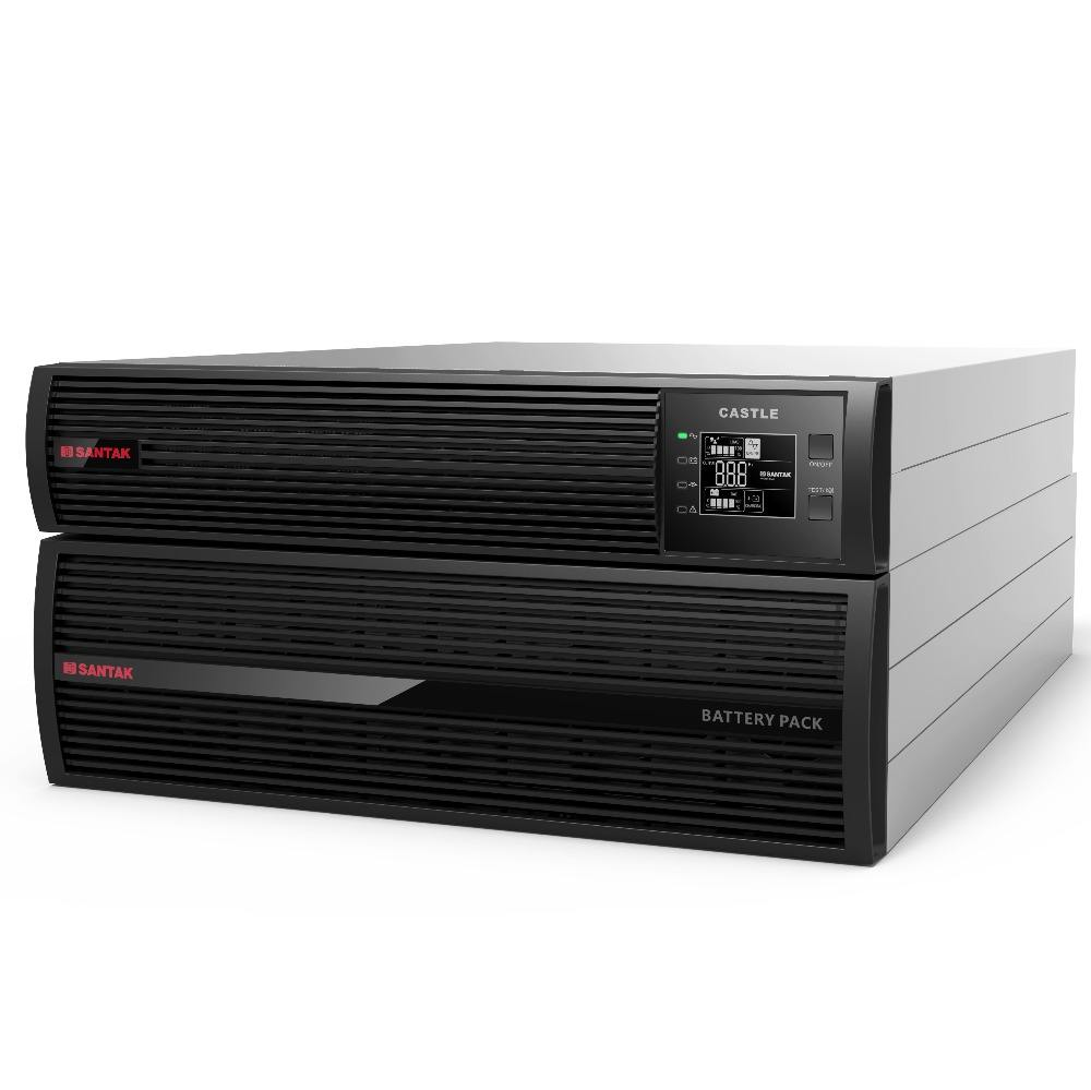 SANTAK Castle Series 10kva 10Kw Long Backup model Rack Mount Online UPS