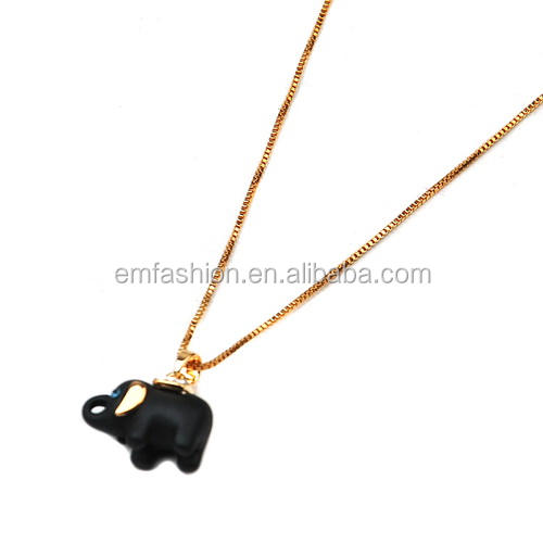 Fashion Panda Head Zebra Elephant Tortoise Zebra Penguin Animal Pendant Necklace