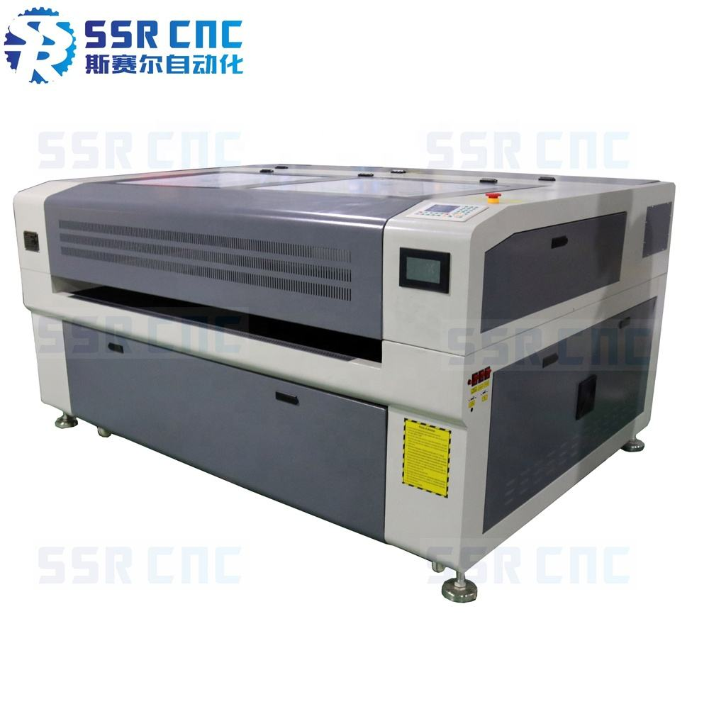 Hybrid Laser Cutting Machine with Smoke Anti System SSR-M1390E/1610E Stainless Steel/Wood/Acrylic Laser Cutter