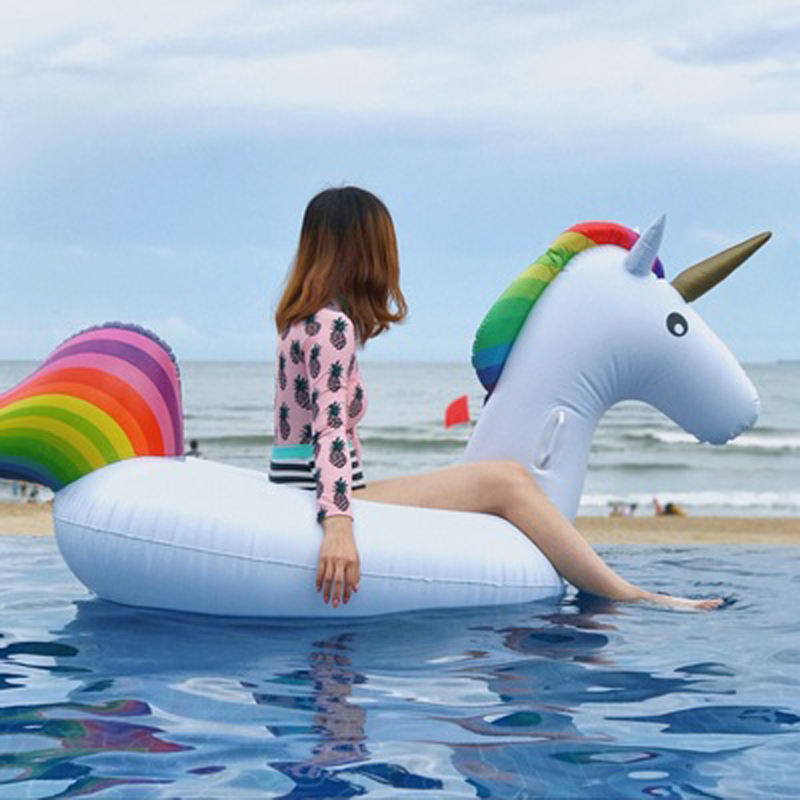 Inflatable Unicorn Pool Float Swimming Ring Swim Float Pool Party Paly Water Float Chairs Inflatable Unicorn Cute