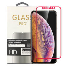 Titanium Alloy Frame Full Coverage Tempered Glass Screen Protector For iPhone 7 8 Plus X XS Max XR with Retail Box