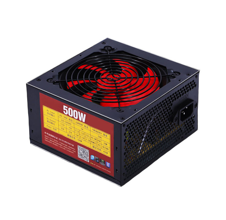High Efficiency Computer ATX 500W Power Supply 80+ Wide Voltage PSU