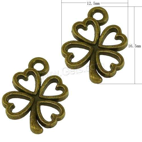 Zinc Alloy clover shamrock four leaf three saint Patricks pattys patrick\'s irish Pendant Four 989679