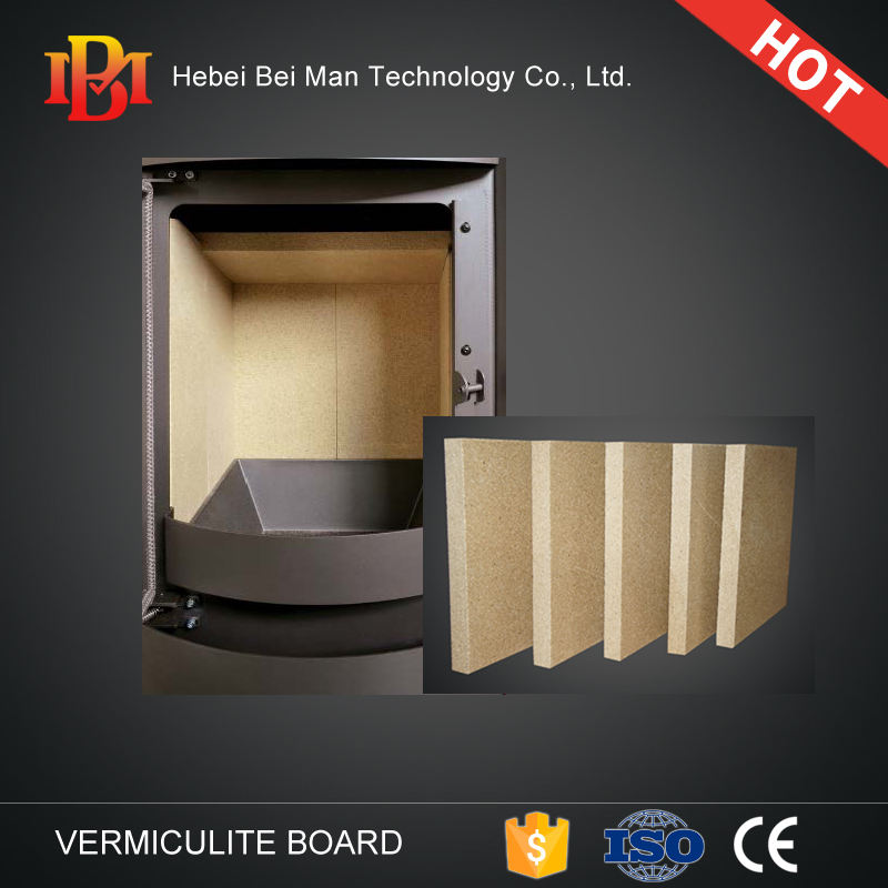 Heat insulation vermiculite plate for wood stove and fireplace