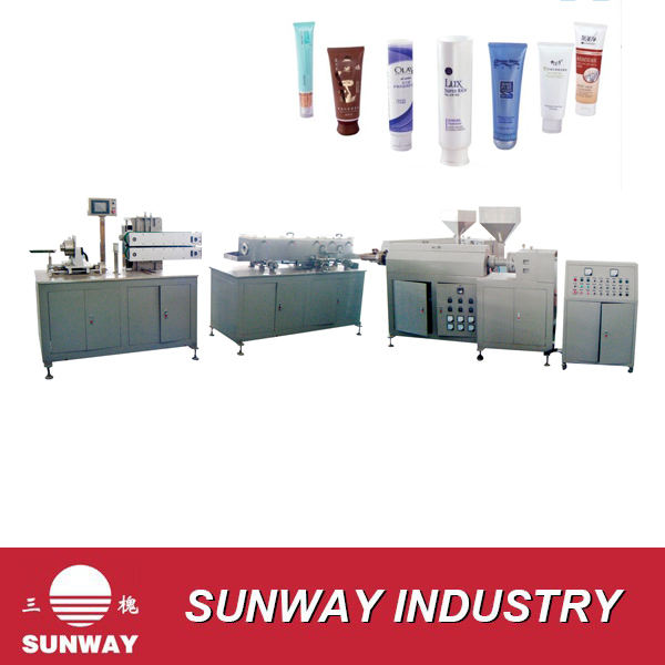 PE Plastic Tube Extrusion Machine For Cosmetic