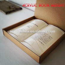 Fashionable Acrylic Book Weight /Paperweight Study Tools For Book Lovers