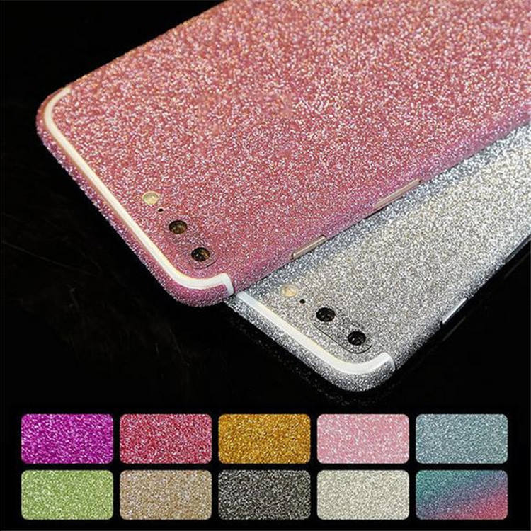 JESOY Mobile Phone Cases For iPhone 6 7 8 Glitter Phone Skin Stickers