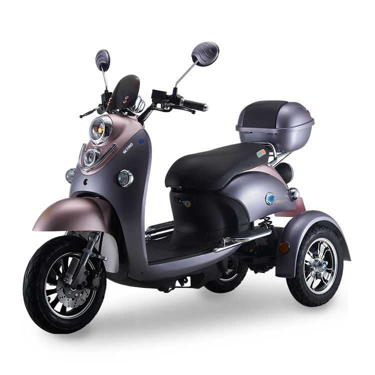 China Wuxing CE 1000W Electronic Vespa Motorcycle 48V 3 Wheel Moto Electric Scooter Three Wheeler