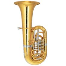Gold lacquer 4/4 Tuba 4 Rotary Tone Bb