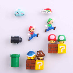 China Supply 10 PCS Cute Super Mario Home Decoration Ornamen