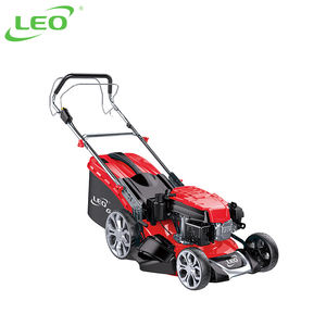 LEO Steel Deck Electric Start Self Propelled Gasoline Lawnmower Petrol Lawn Mower