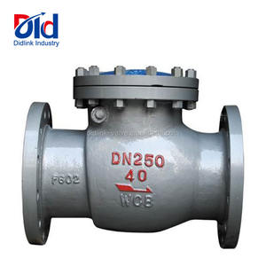 Forged Steel Cheap Price WCB DIN PN40 DN250 Flange Connection Water Pressure Swing Check Valves