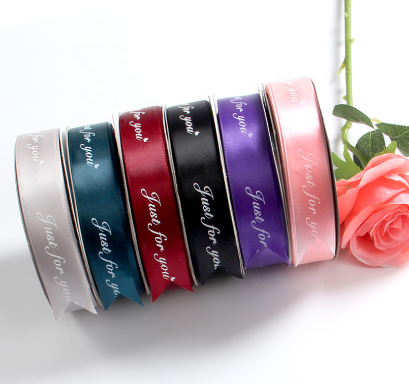 Factory Wholesale Colorful Ribbon With Logo Gift Packaging Ribbon Silk Satin Ribbon Roll