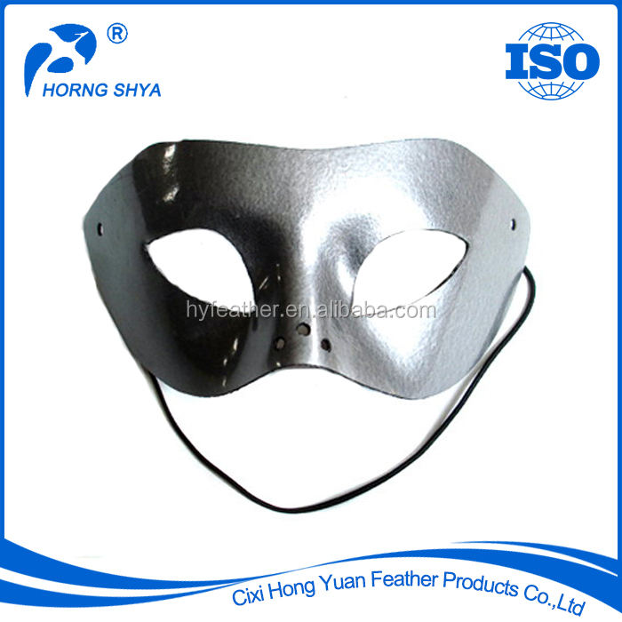 High Quality Carnival Halloween Masquerade Party Decoration Various Specification Customized Silver Mask