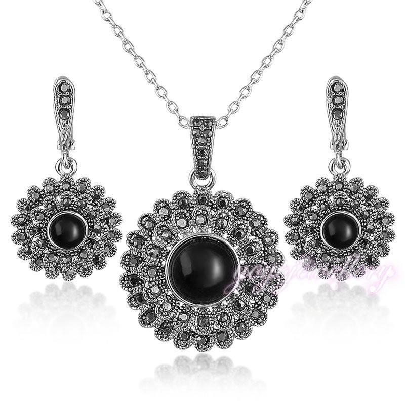 Jóias new arrival black lotus mann quartzo rosa colar camadas indiano conjunto de jóias zircão