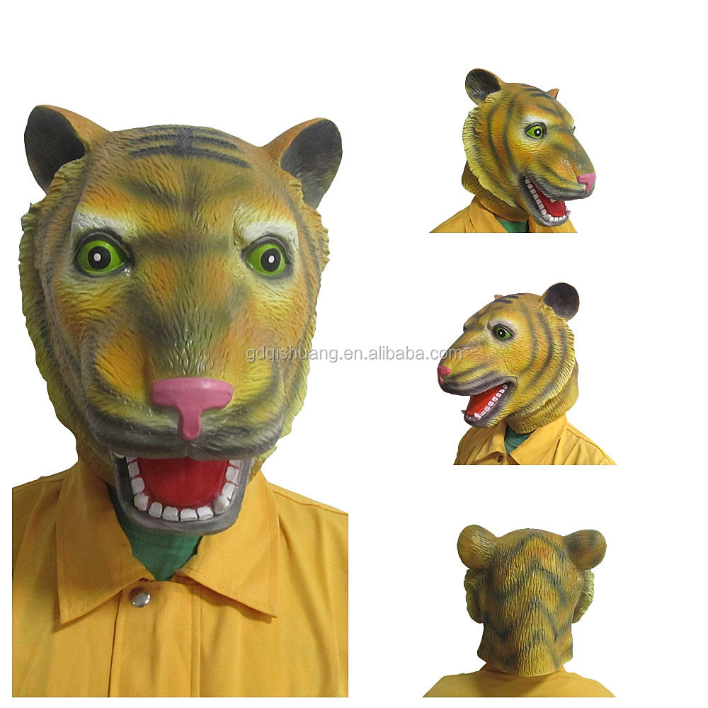 Full face head animal fish latex foam halloween costume deluxe party mask