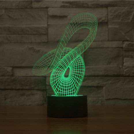 Factory direct wholesale 3D abstract art lamp 2 colorful Nightlight visual lamp lights 101406
