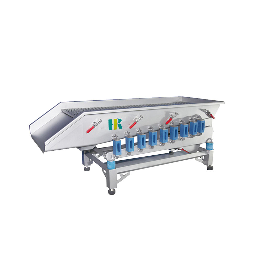 Fruit and vegetable processing machine / vibrator conveyor - sorting fresh vegetables