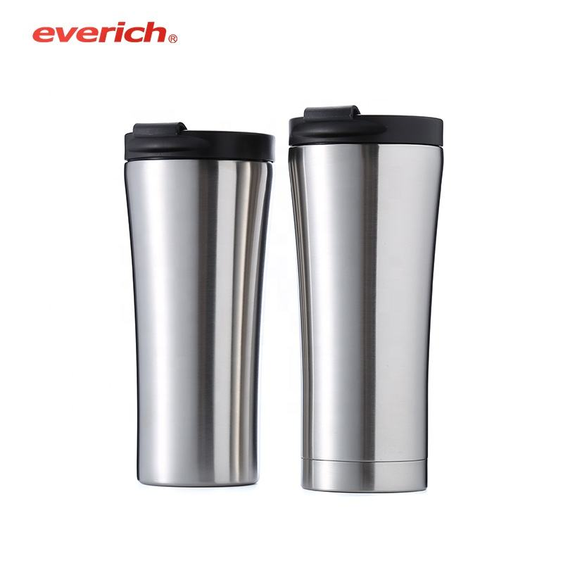 Everich Cups Double Wall Stainless Steel Tumbler Cups Potable Coffee Vacuum Tumbler Travel Blank Coffee Mugs 16oz BPA Free
