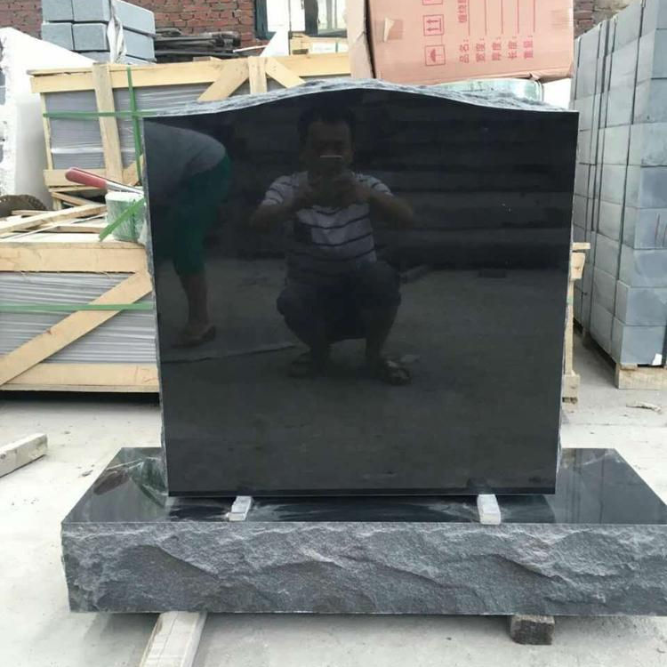 low price Chinese imperial grey granite headstone